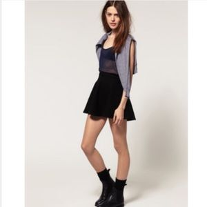 American apparel black cotton circle skirt